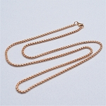 24 Inch Rose Gold Stainless Steel Square Rolo Chain for Floating Locket